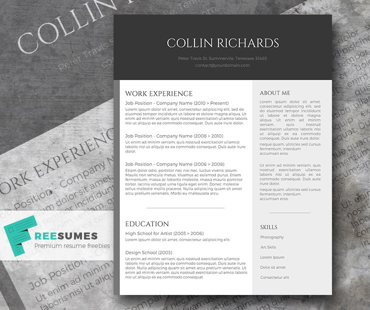 plain but trendy the free modern resume template freesumes simple worship pastor Resume Modern Simple Resume Template