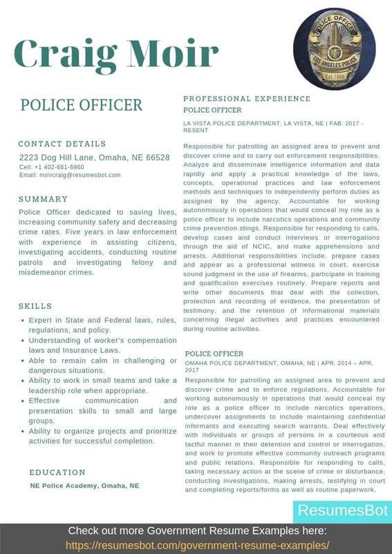 police officer resume samples templates pdf resumes bot objective example modeling Resume Police Resume Objective Samples