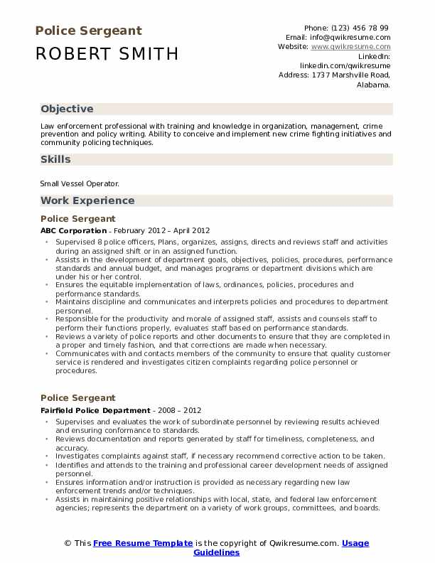 police sergeant resume samples qwikresume objective pdf cprw writers creative writer Resume Police Resume Objective Samples