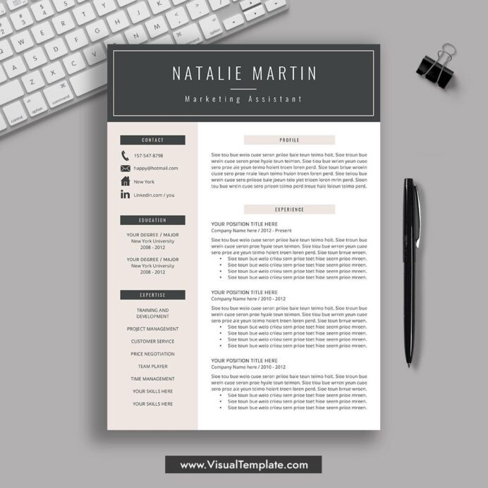 pre formatted resume template with icons fonts and editing guide unlimited digital Resume Resume Template Download 2020