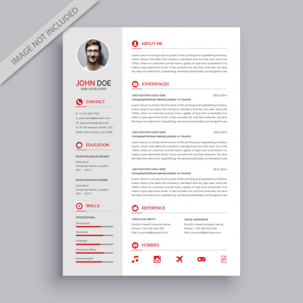 premium vector modern simple resume template fresher format for bank job district manager Resume Modern Simple Resume Template