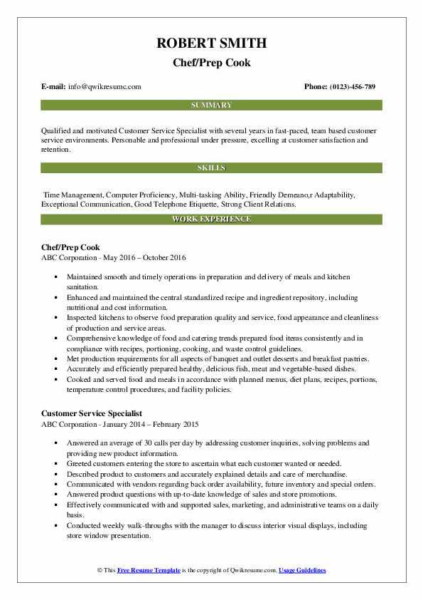 prep resume samples qwikresume job description for pdf autocad draftsman sample language Resume Prep Cook Job Description For Resume