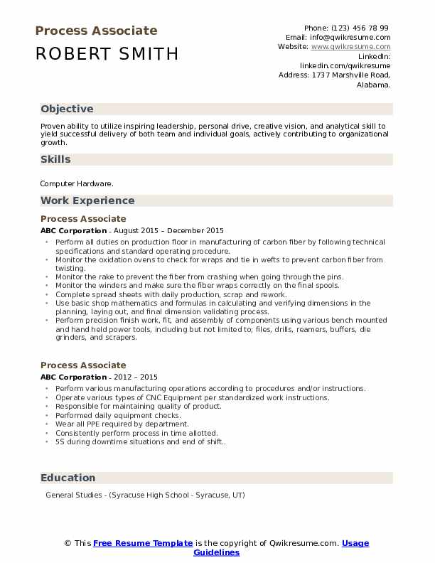 process associate resume samples qwikresume pdf technical manager sewing writter payroll Resume Process Associate Resume