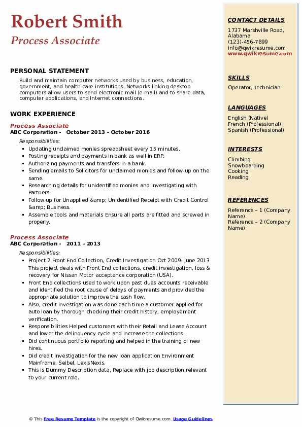 process associate resume samples qwikresume pdf writter professional accounting special Resume Process Associate Resume