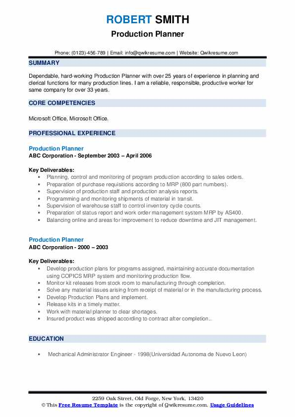 production planner resume samples qwikresume pdf scientific examples phd verification Resume Production Planner Resume
