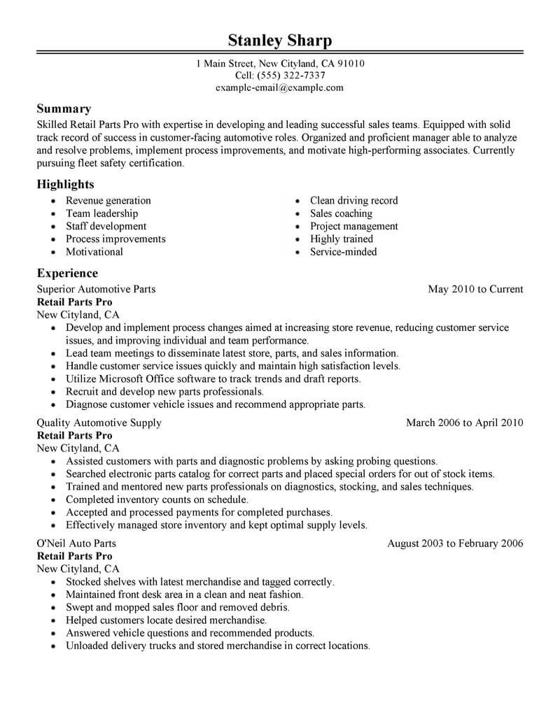 production supervisor resume template for microsoft word livecareer automobile format Resume Automobile Resume Format For Freshers