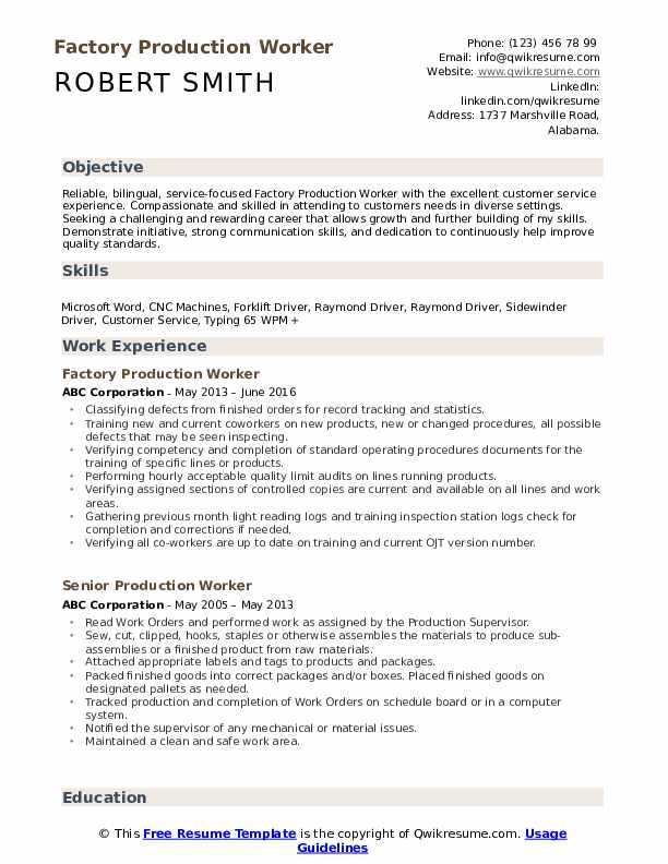production worker resume samples qwikresume examples for assembly pdf simple short order Resume Resume Examples For Assembly Worker