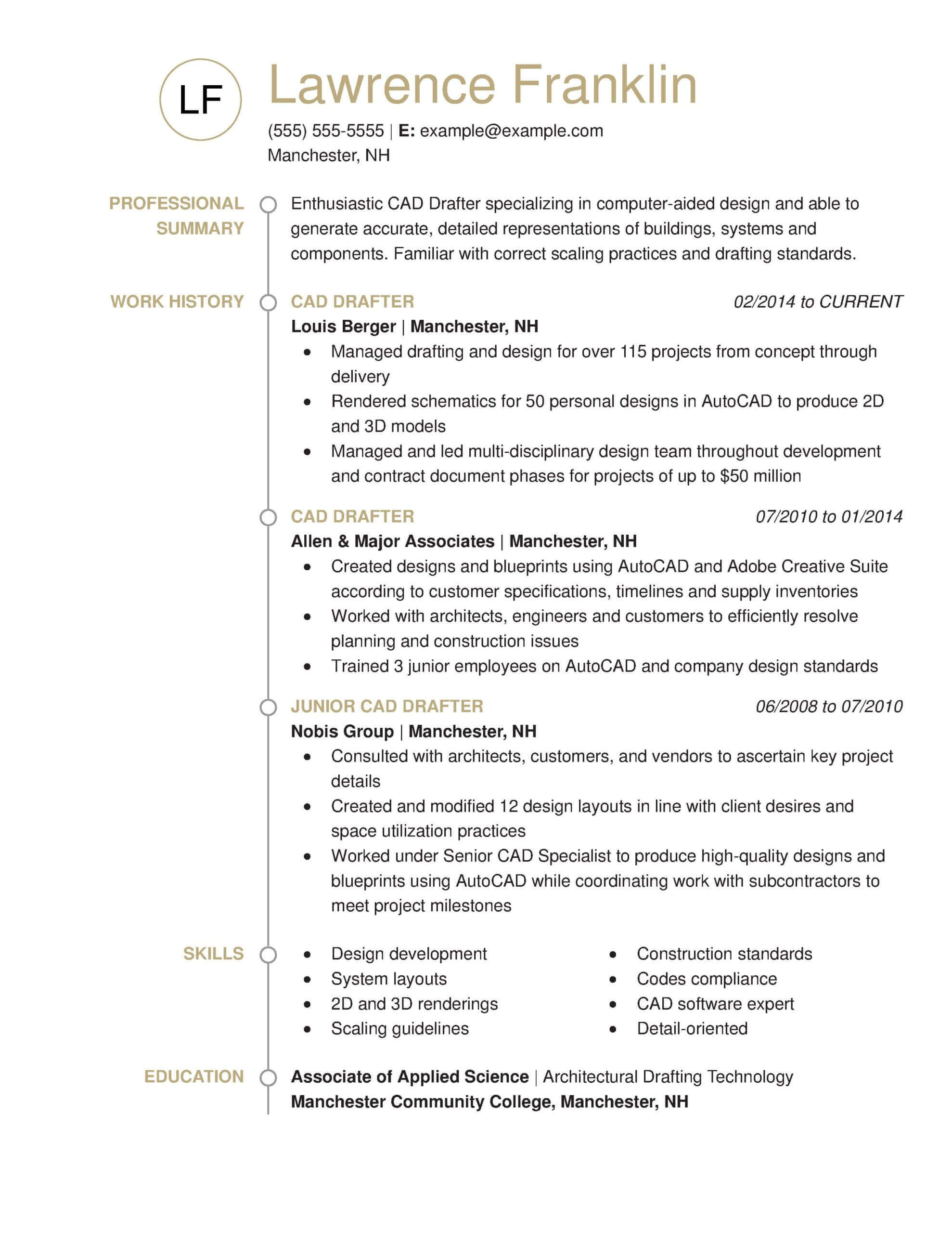 professional architecture resume examples livecareer drafter standout chrono scaled Resume Architecture Resume Examples