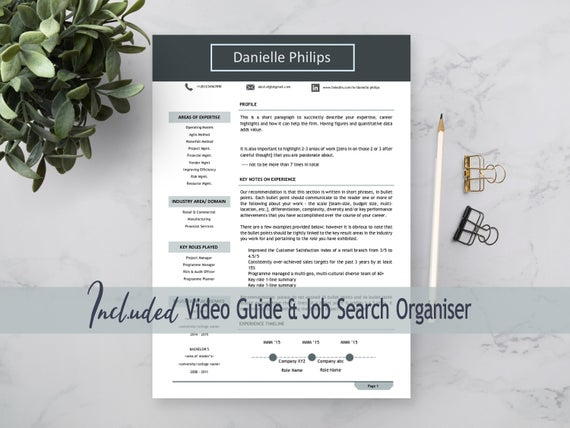 professional cv design simple resume and cover letter etsy engineer template word il Resume Professional Engineer Resume Template Word