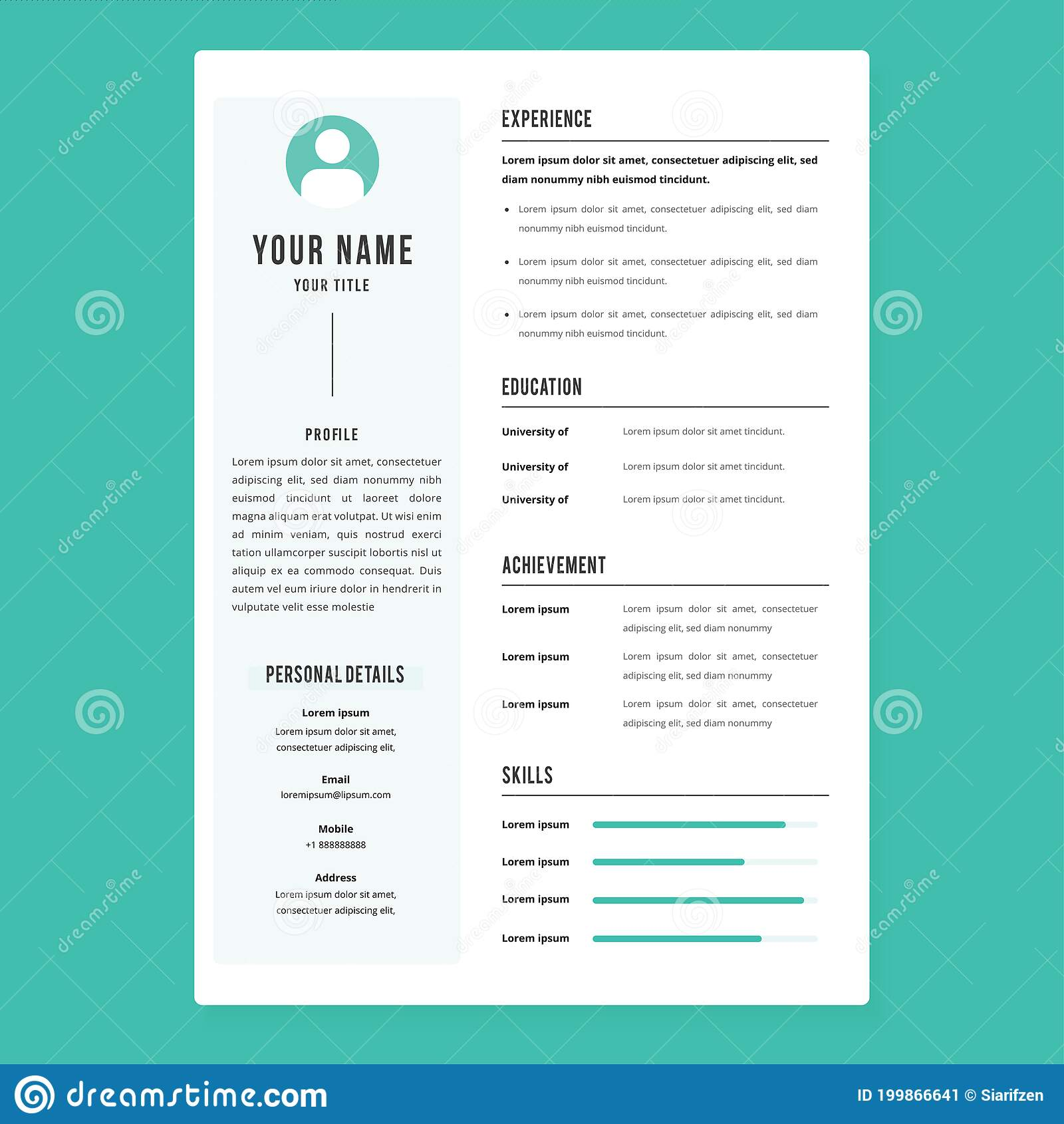 professional cv resume template design and letterhead cover letter vector minimalist nice Resume Professional Resume Letterhead