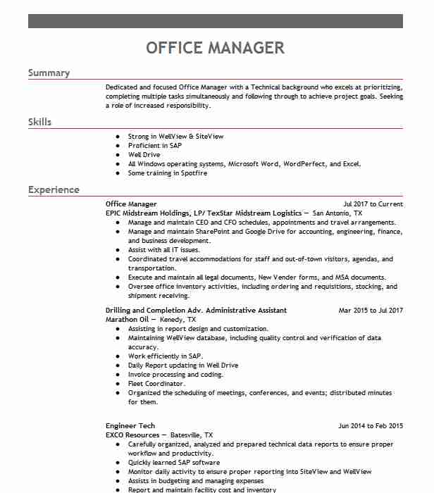 professional office manager resume examples administrative livecareer sample pharmacy Resume Office Manager Resume Examples 2020