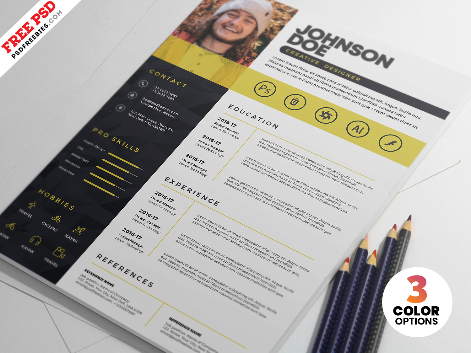 professional resume cv template psdfreebies photoshop server administrator examples entry Resume Photoshop Resume Template
