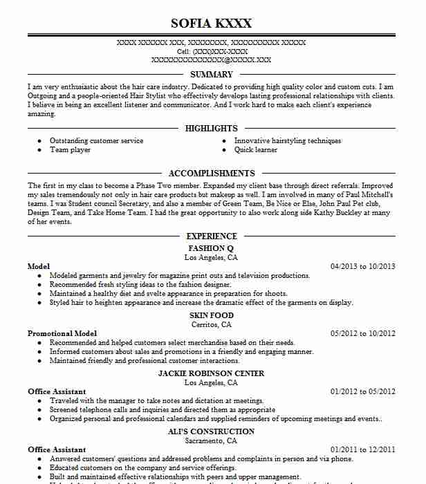 professional resume examples livecareer fashion model national writers association post Resume Fashion Model Resume Examples