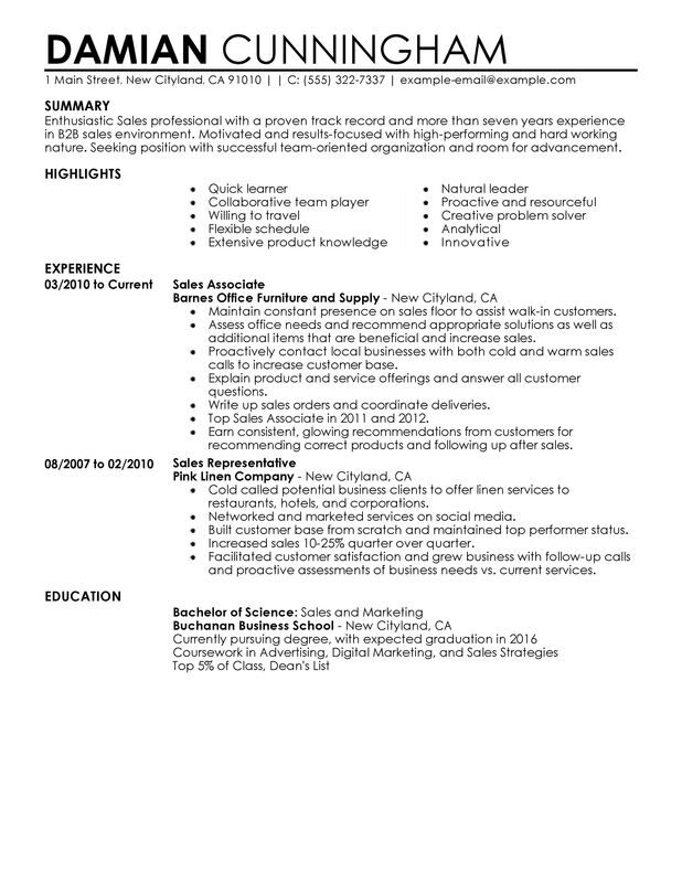 professional resume examples myperfectresume highlights sample quick tips manager sports Resume Resume Highlights Sample