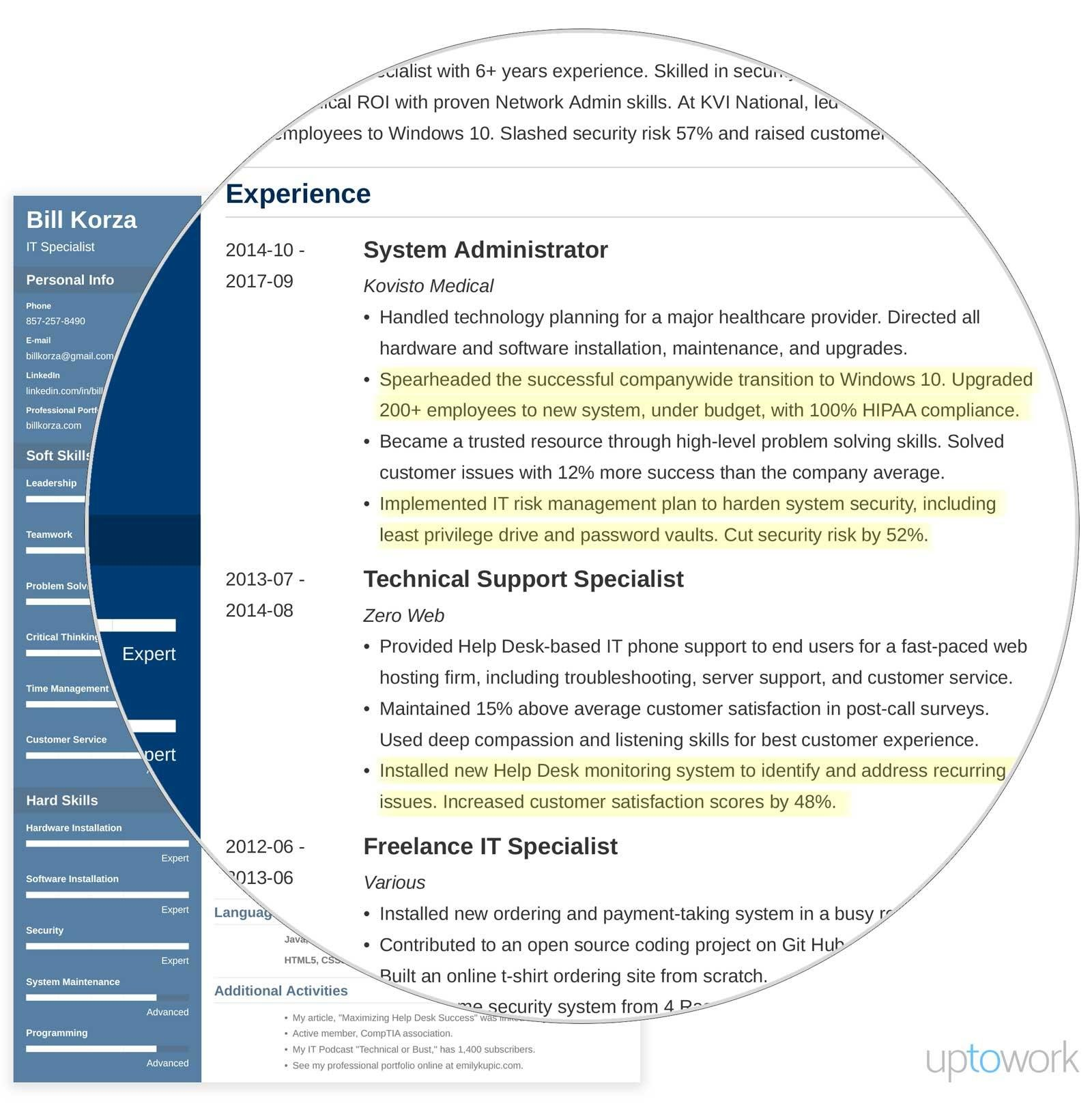 professional resume profile examples section template personal summary example sample Resume Personal Profile Resume Examples