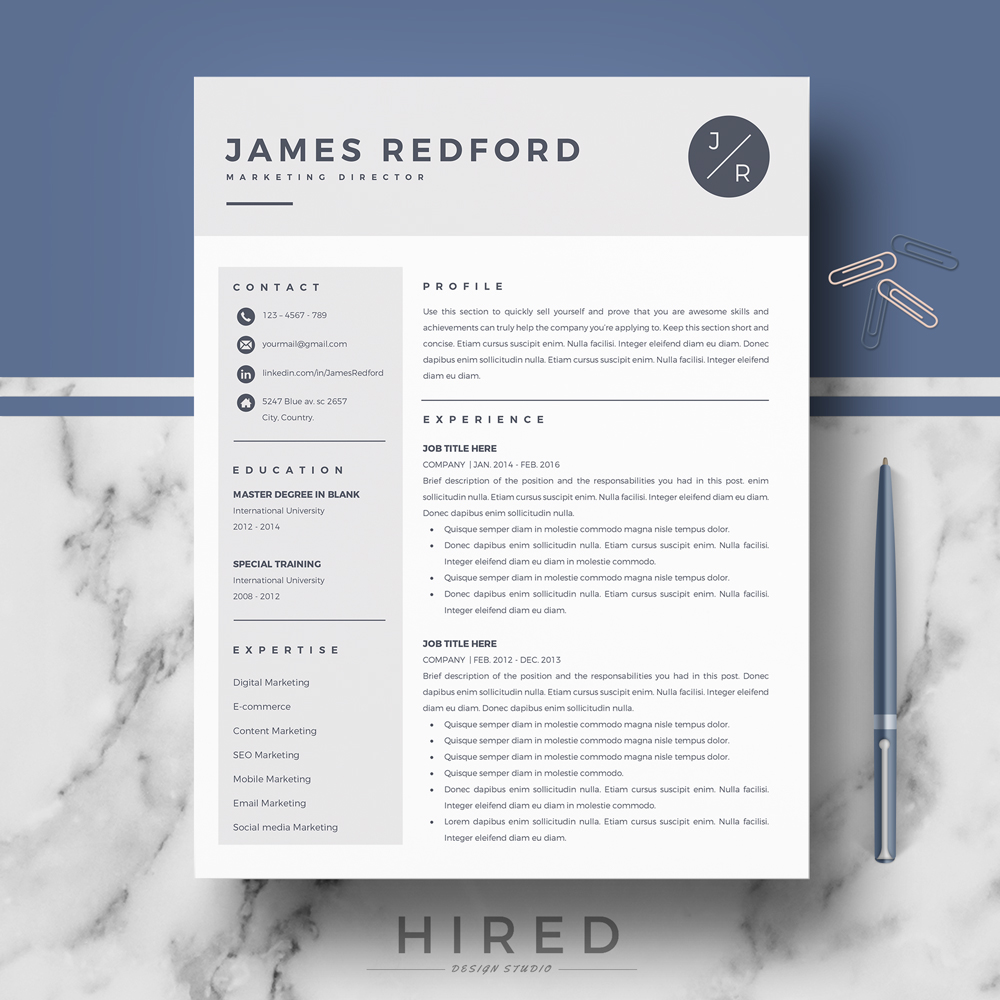 professional resume template for mac and word on behance free templates os first job Resume Free Resume Templates Mac Os X