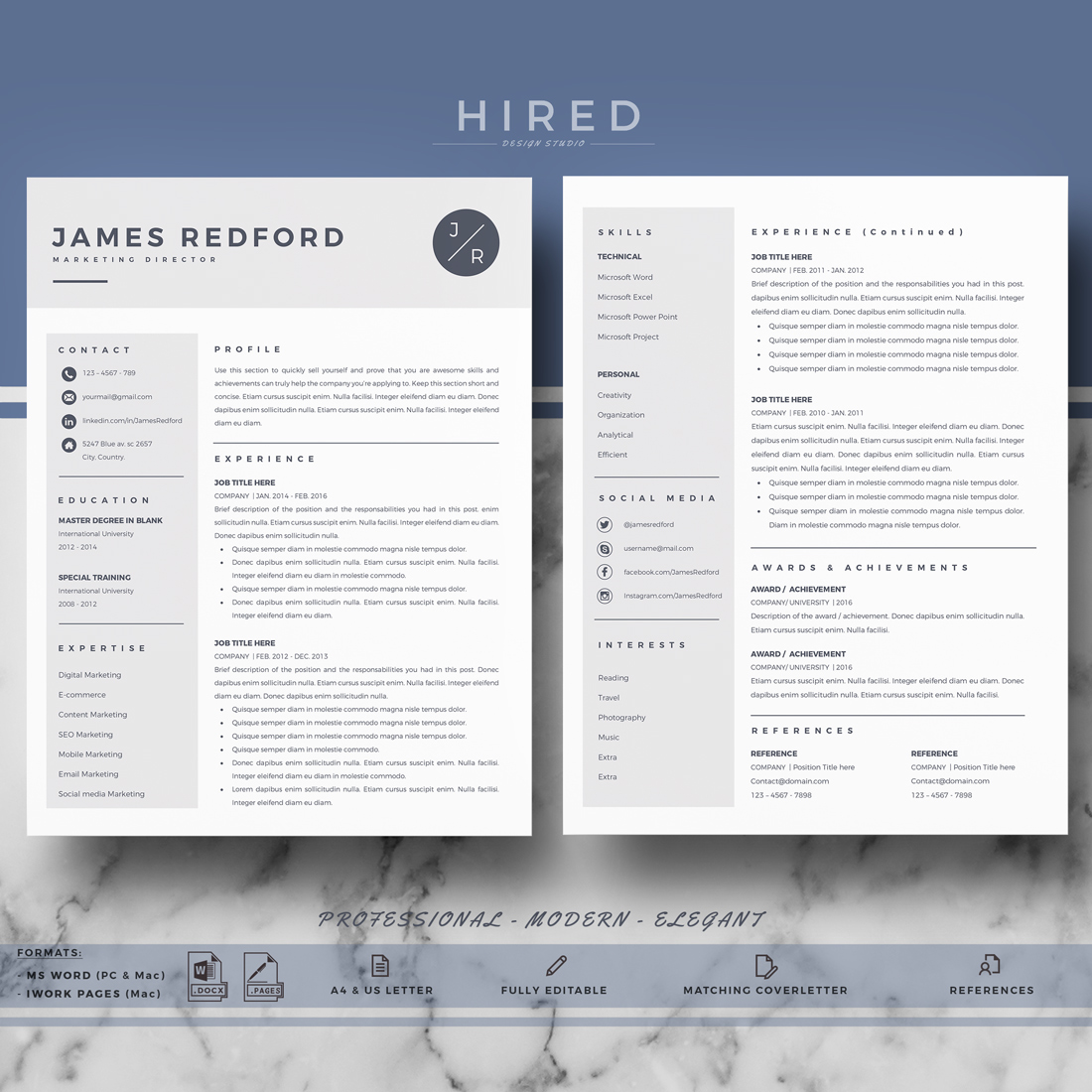 professional resume template for mac and word on behance free templates os perfect Resume Free Resume Templates Mac Os X