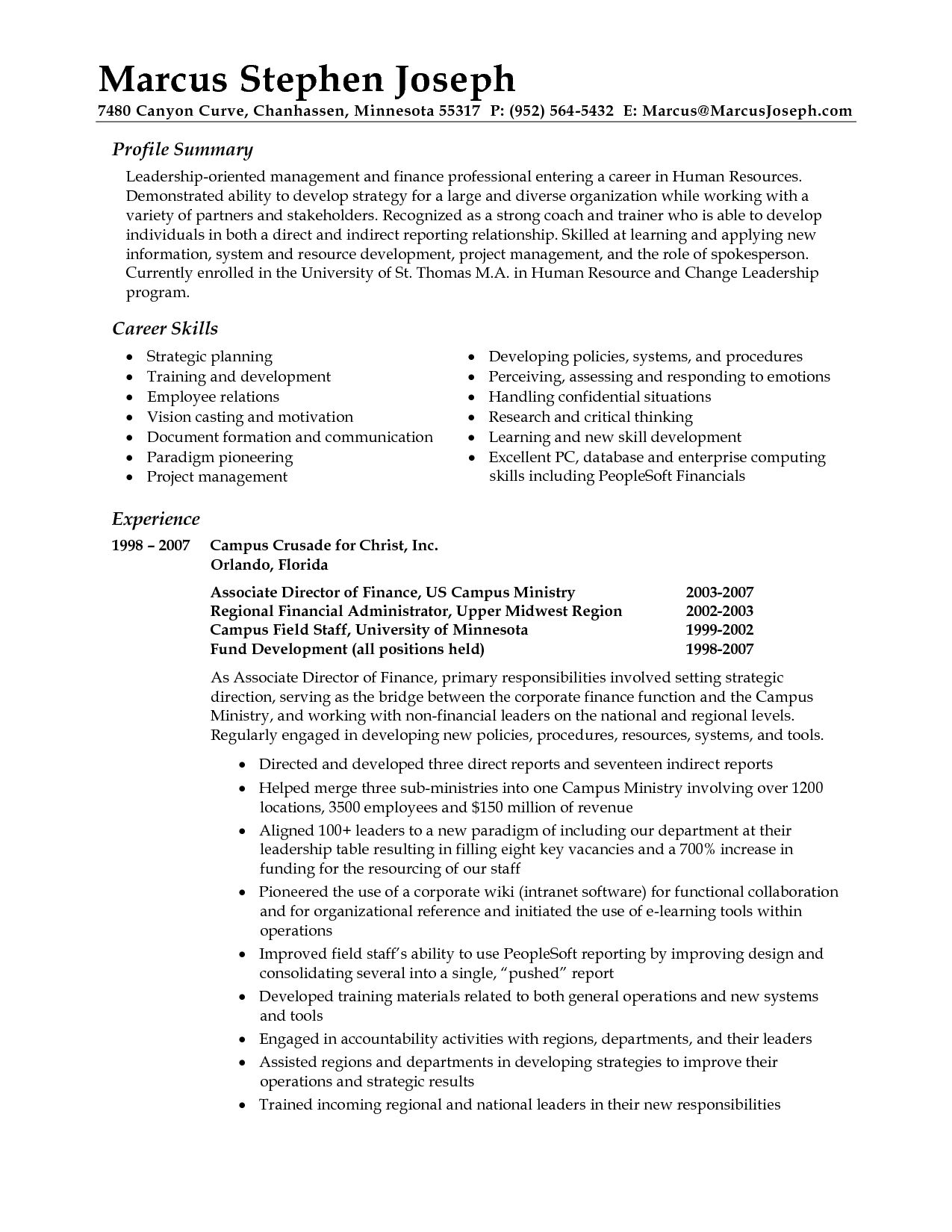 professional summary resume examples career statement vs cover letter recreation manager Resume Resume Summary Vs Cover Letter