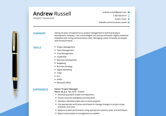 project manager resume example maxresumes examples sample best service los angeles auto Resume Project Manager Resume Examples 2020