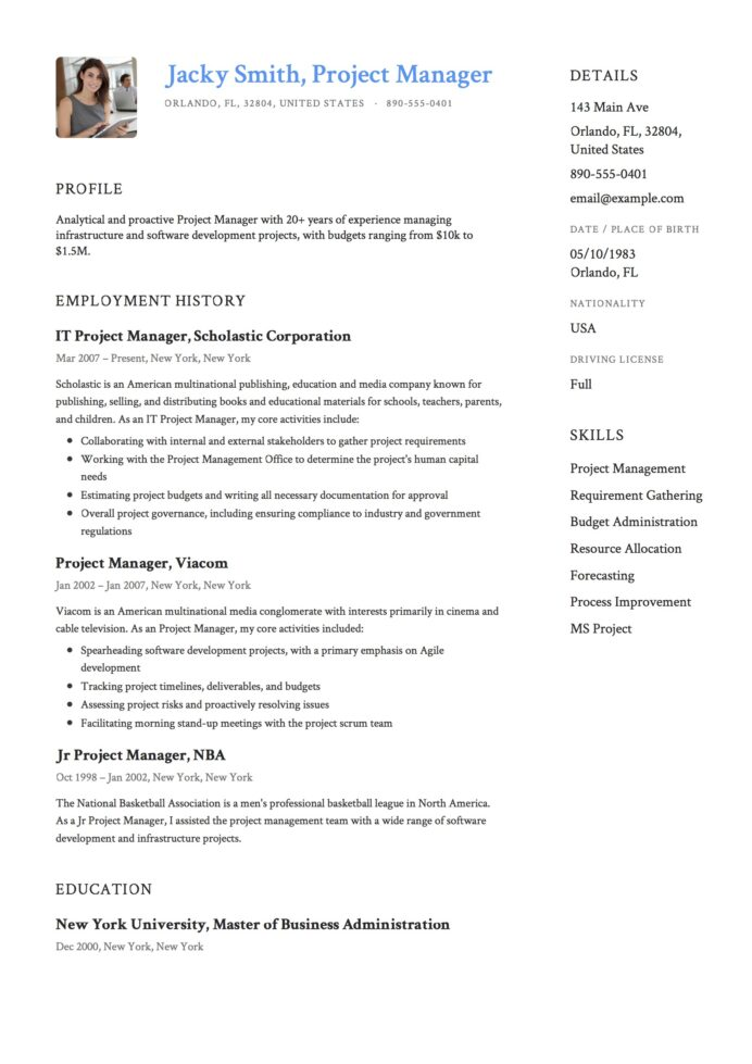 project manager resume examples full guide pdf word sample lease operator conventional Resume Project Manager Resume Examples 2020