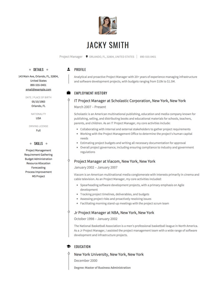 project manager resume examples full guide pdf word supervisor business operations Resume Project Manager Resume Examples 2020