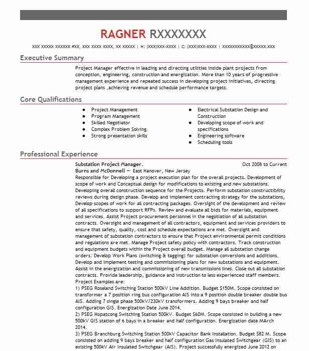 project substation engineer resume example deproex winter electrical graduate assistant Resume Substation Electrical Engineer Resume