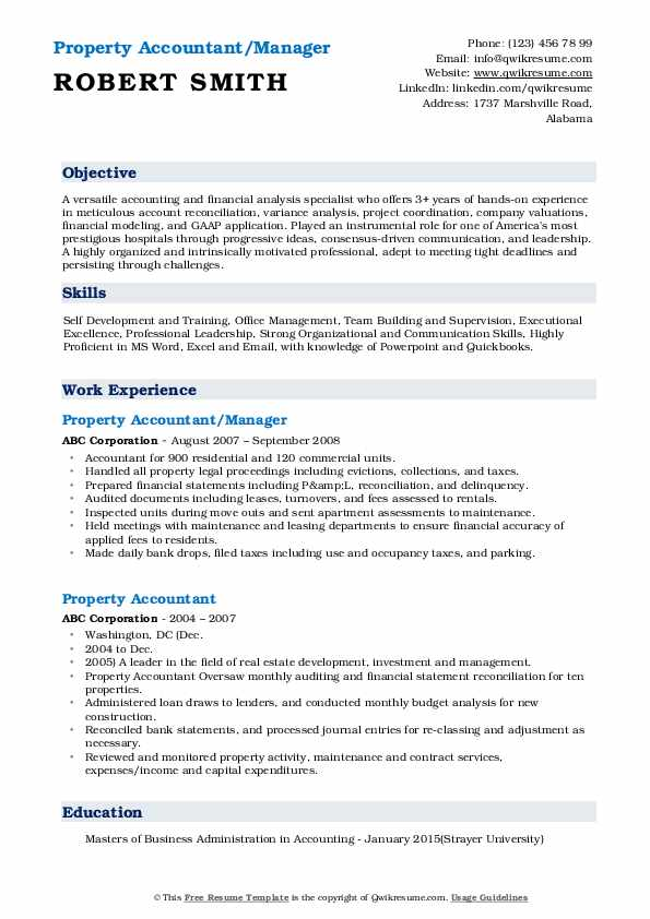property accountant resume samples qwikresume sample pdf profile section of better word Resume Property Accountant Resume Sample