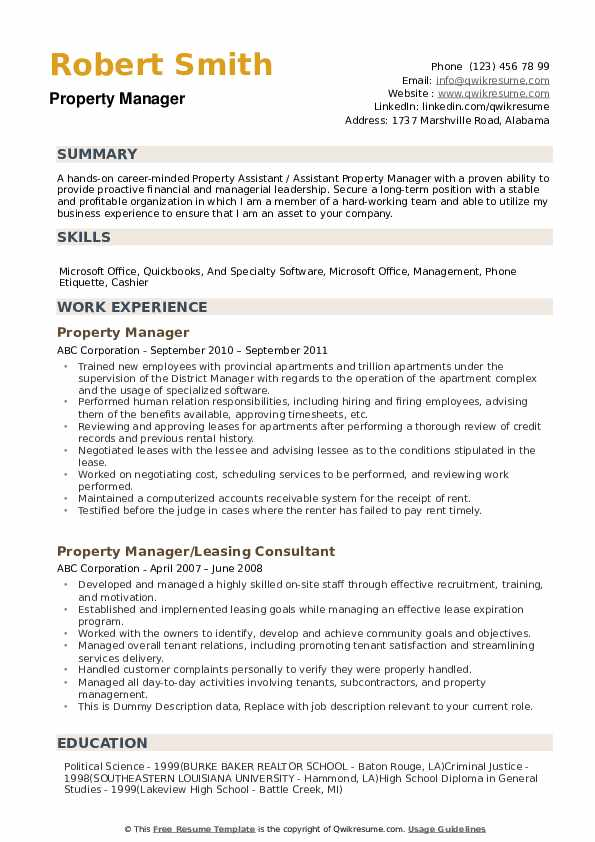 property manager resume samples qwikresume entry level management pdf free indeed Resume Entry Level Property Management Resume
