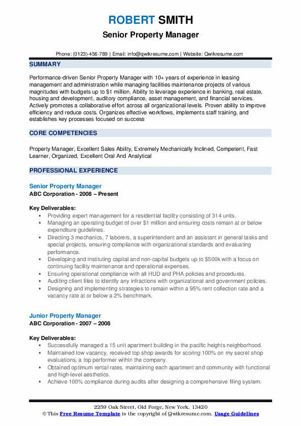 property manager resume samples qwikresume entry level management pdf headline for naukri Resume Entry Level Property Management Resume