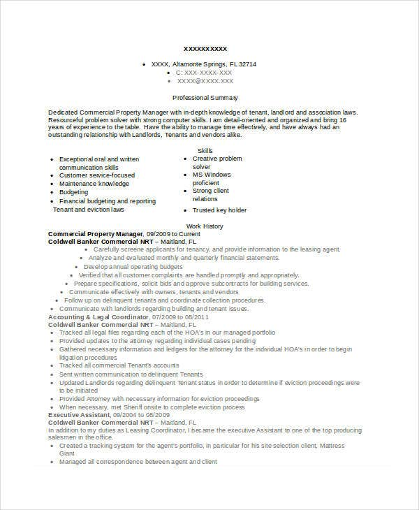 property manager resume templates pdf free premium apartment commercial difference Resume Apartment Manager Resume