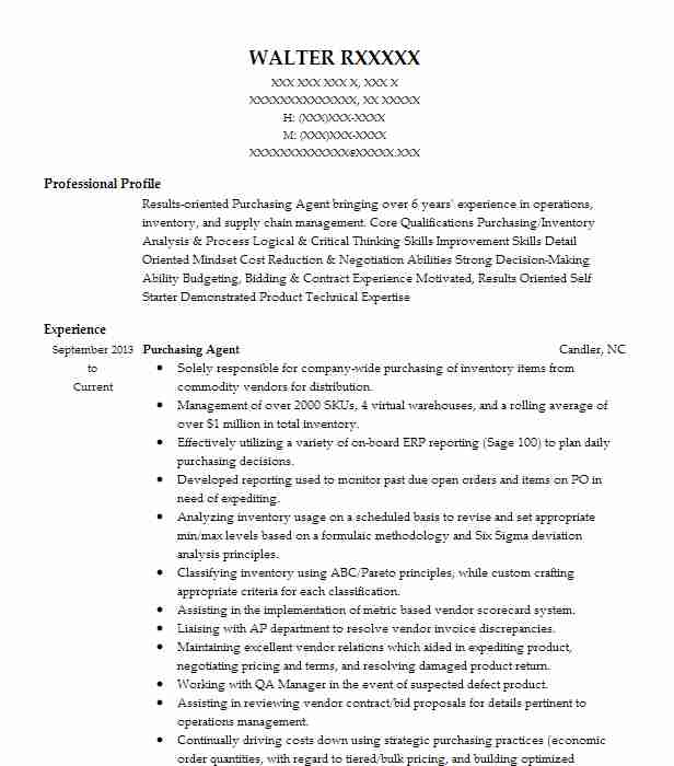 purchasing agent resume example resumes livecareer keywords front office executive sample Resume Purchasing Resume Keywords