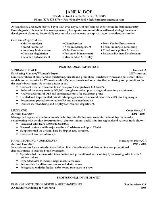 purchasing resume example fashion examples sample exsa16 courses for sap erp basic Resume Fashion Resume Examples