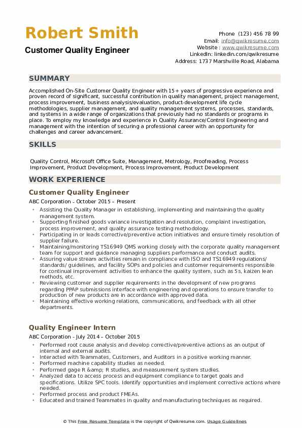 quality engineer resume samples qwikresume aerospace pdf cbse format division order Resume Aerospace Quality Engineer Resume