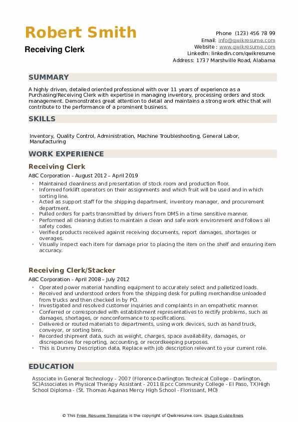 receiving clerk resume samples qwikresume shipping and objective examples pdf warehouse Resume Shipping And Receiving Resume Objective Examples