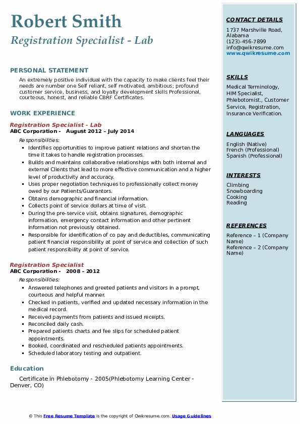 registration specialist resume samples qwikresume pdf examples about yourself human Resume Registration Specialist Resume
