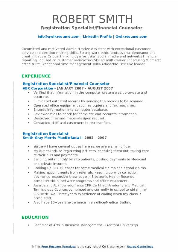 registration specialist resume samples qwikresume pdf perfect font for human resources Resume Registration Specialist Resume