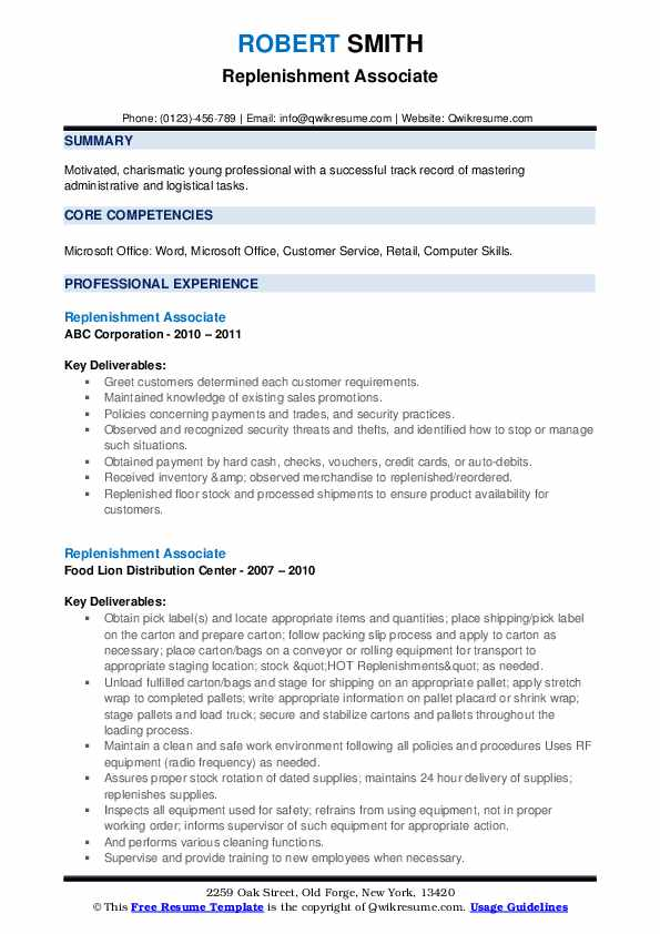replenishment associate resume samples qwikresume availability example pdf thoughts Resume Availability Resume Example