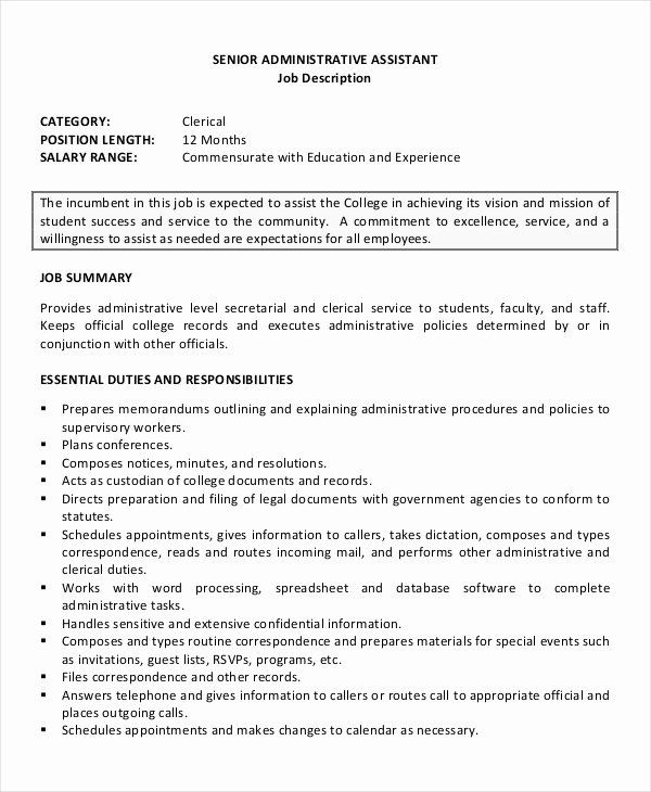 research assistant job description resume fresh senior administrative templates examples Resume Office Assistant Duties Responsibilities Resume