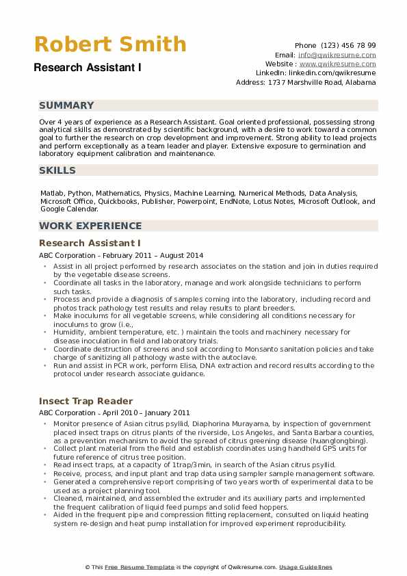research assistant resume samples qwikresume entry level pdf summary for students Resume Entry Level Research Assistant Resume