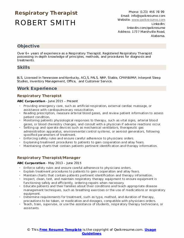 respiratory therapist resume samples qwikresume entry level example pdf fun activities Resume Entry Level Respiratory Therapist Resume Example