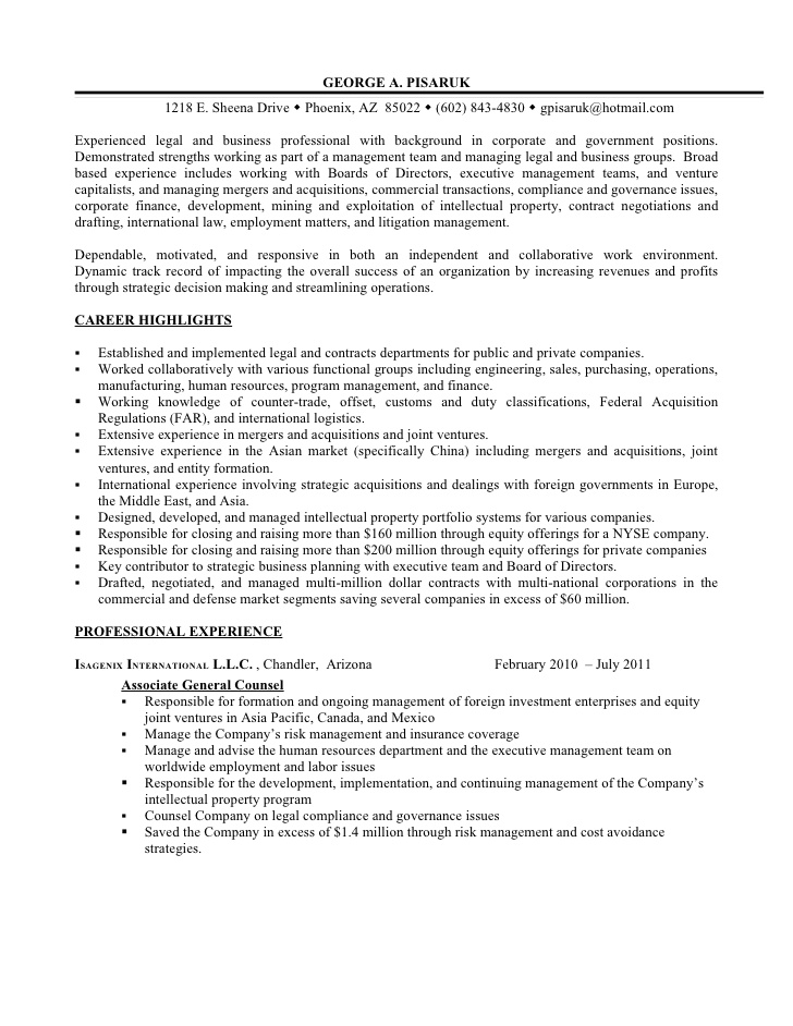 resume additional experience as business legal professional on objective for medical Resume Additional Experience On Resume