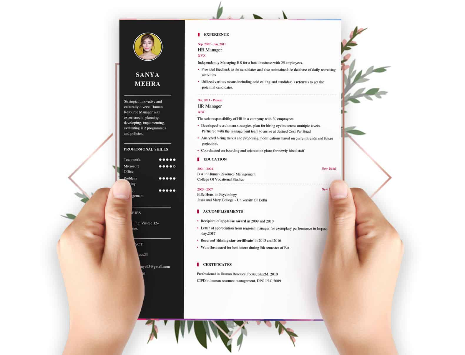 resume builder my format free and job board latest professional template team building Resume Latest Professional Resume Format Free Download