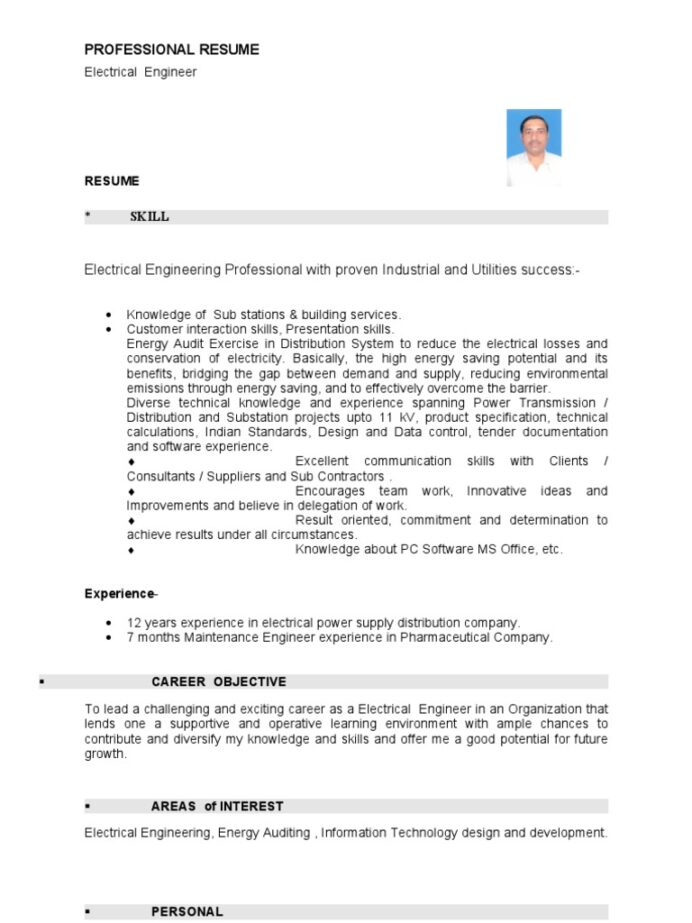 resume electric distribution electrical substation professional maintenance engineer ats Resume Substation Electrical Engineer Resume