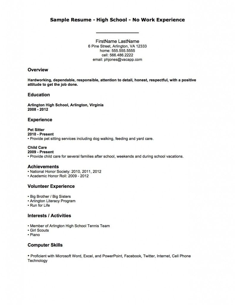 resume examples after first job resumeexamples template high school professional loan Resume Professional Resume Resume Examples