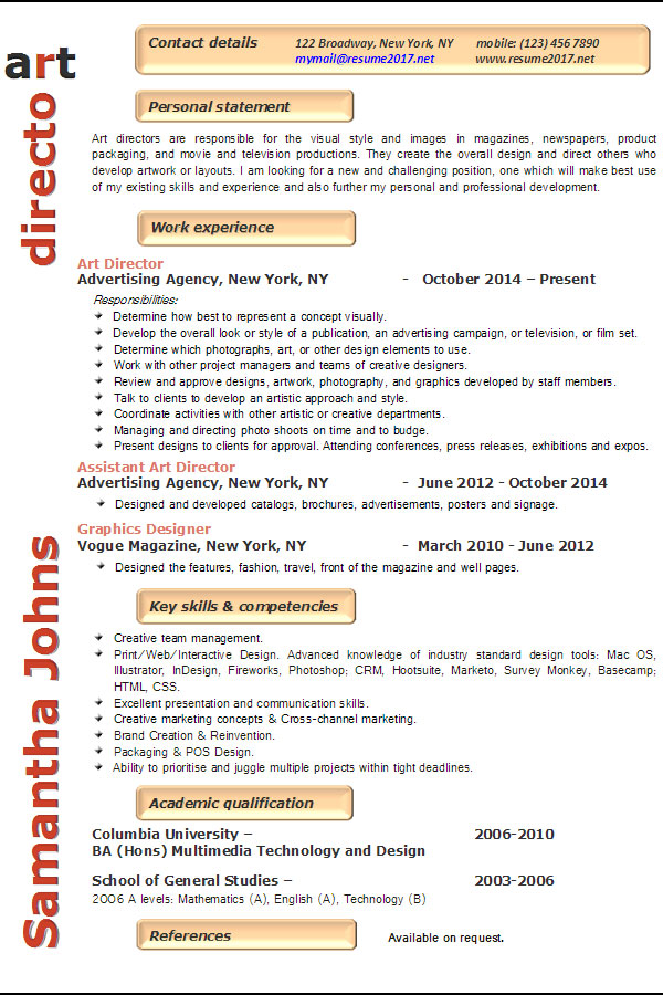 resume examples art director keywords for example babysitting description graphic Resume Keywords For Art Director Resume