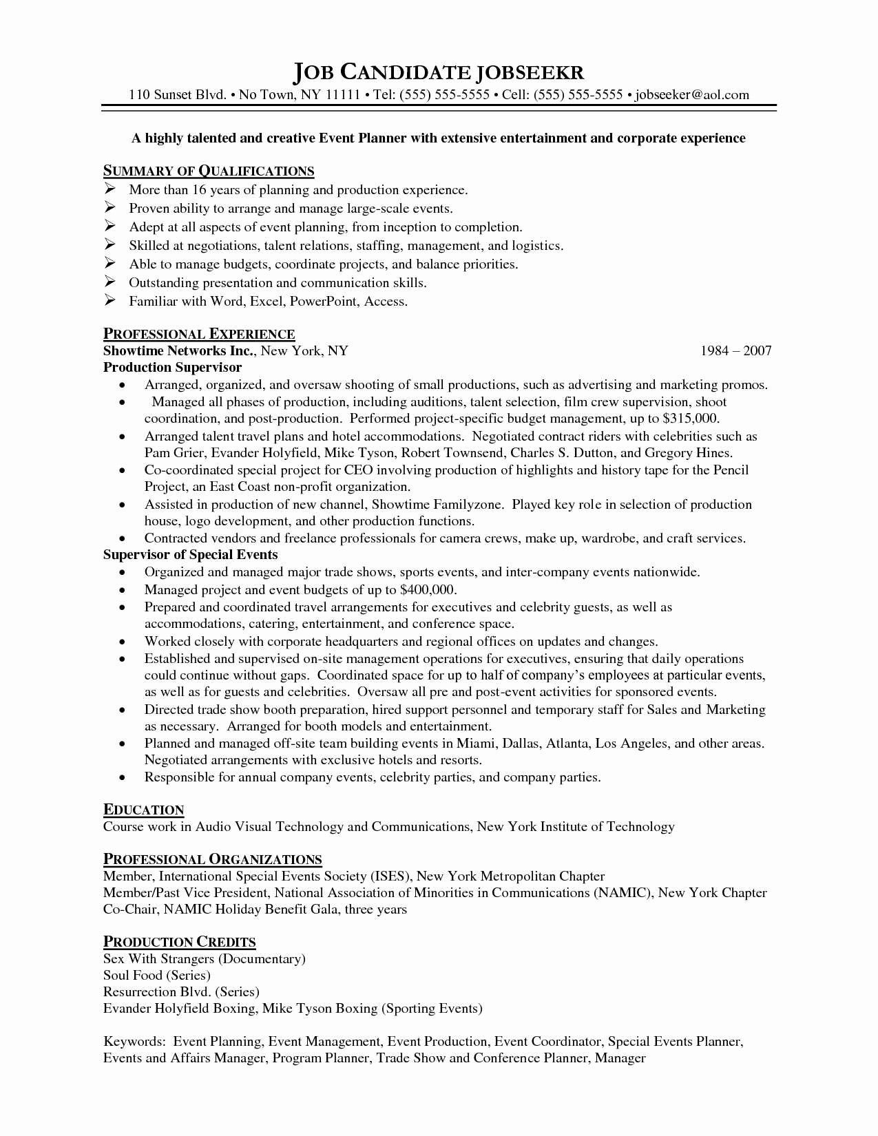 resume examples event coordinator templates planner planning business jobs management for Resume Event Management Resume For Freshers
