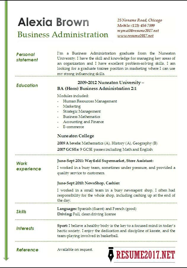 resume examples for business templates administration template position dispatcher sample Resume Resume For Business Administration Position