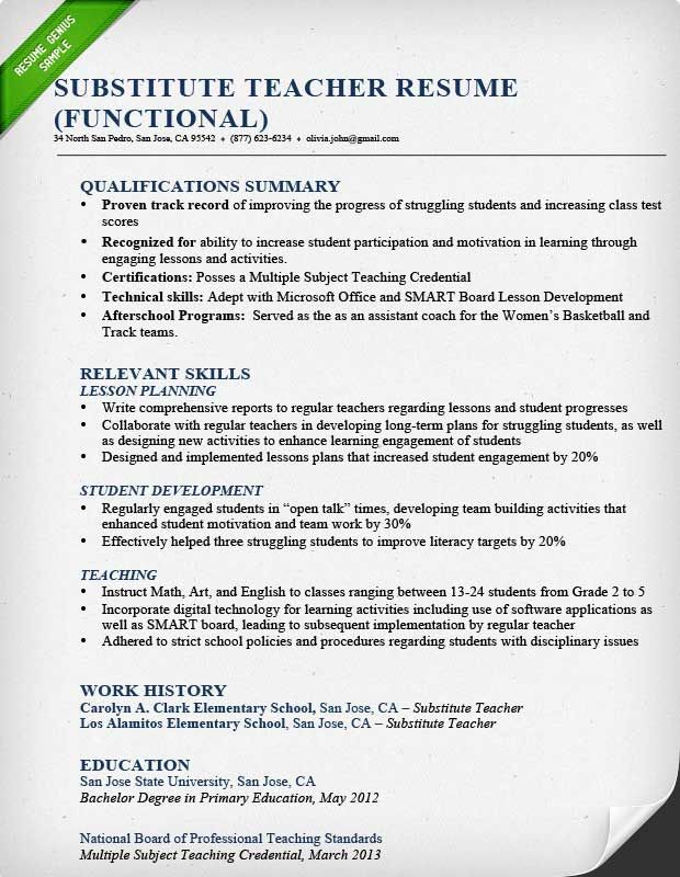 resume examples for teachers teaching teacher template summary should you staple your Resume Teacher Resume Summary Examples