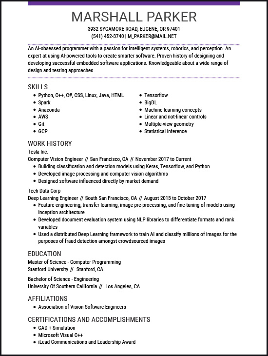 resume examples for the top gen jobs livecareer computer vision engineer general labor Resume Computer Vision Engineer Resume