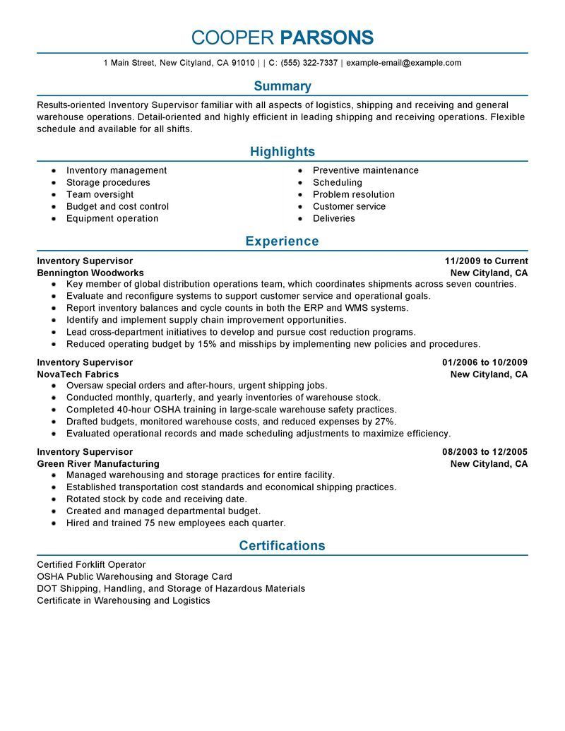 resume examples supervisor writing services transportation example lpn job duties for Resume Transportation Supervisor Resume Example